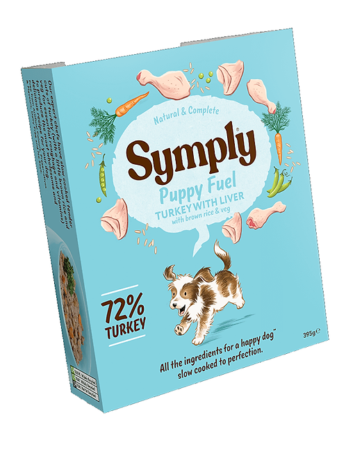 Symply Puppy Fuel Turkey with Liver 395g