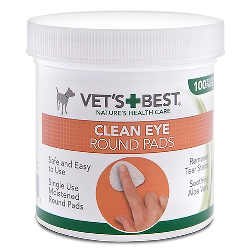 Vet's Best Clean Eye Round Pads 100pc
