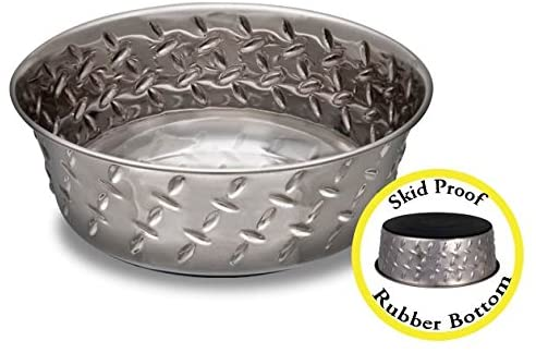 Diamond Plate Stainless Steel Bowl