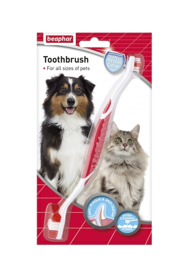 Double Ended Toothbrush for Cats & Dogs