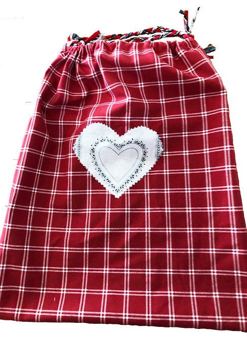 Red & White Shopping Bag
