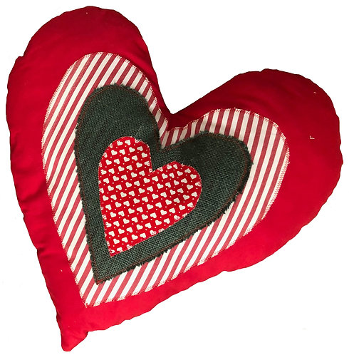 Red, white & green Heart