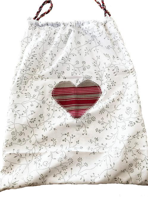White & Grey Shopping Bag