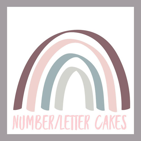 Number/Letter Cakes