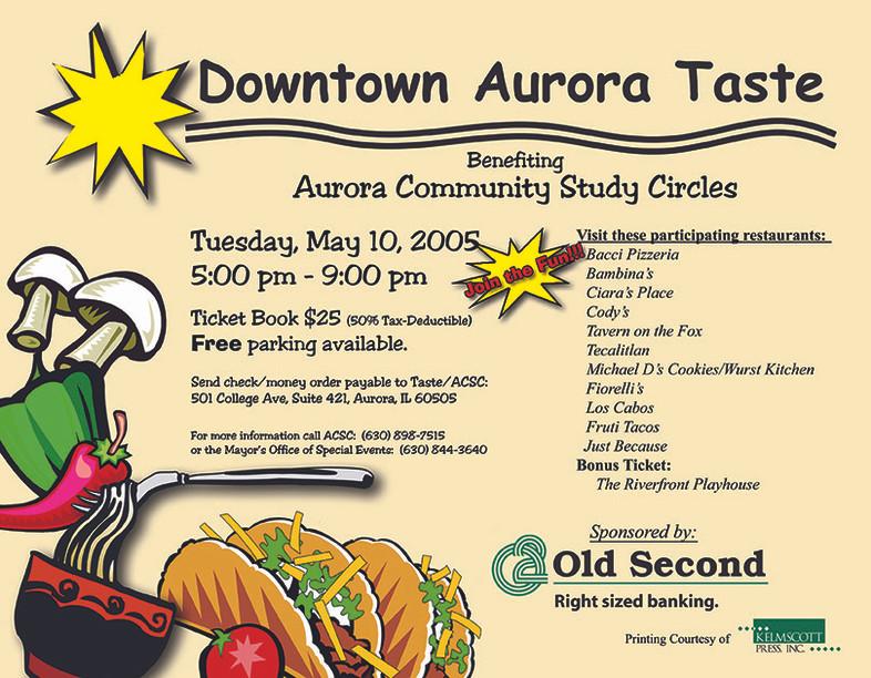 Downtown Aurora Taste - Flyer