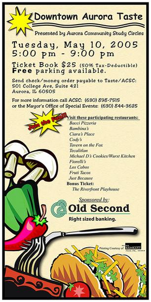 Downtown Aurora Taste - Poster