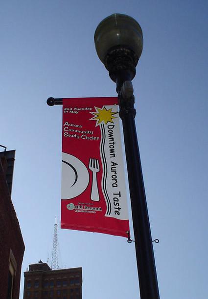 Downtown Aurora Taste - Pole Banner