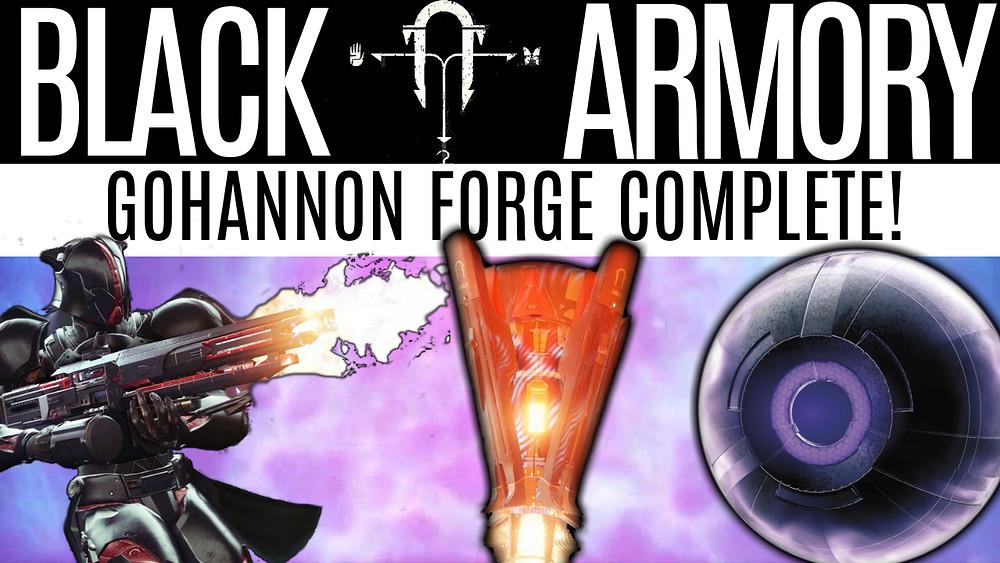 DESTINY 2 BLACK ARMORY - Gofannon Forge Complete