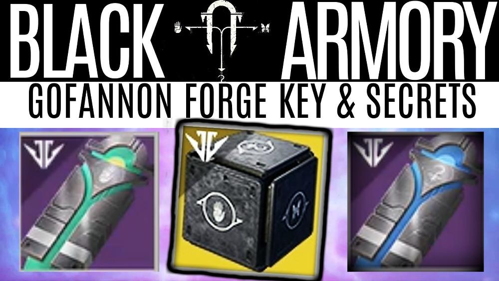 DESTINY 2 BLACK ARMORY - Gofannon Forge Key and Secrets