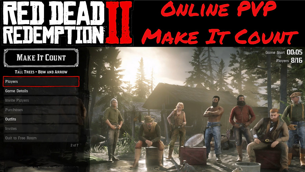 Red Dead 2 Online PVP Make It Count - 1 Life, Only Bow Mode