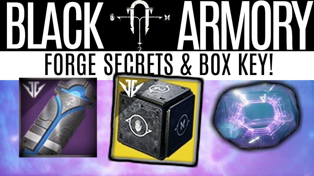 DESTINY 2 BLACK ARMORY SECRETS - Forge Secrets, Box Key and The Ringing Nail