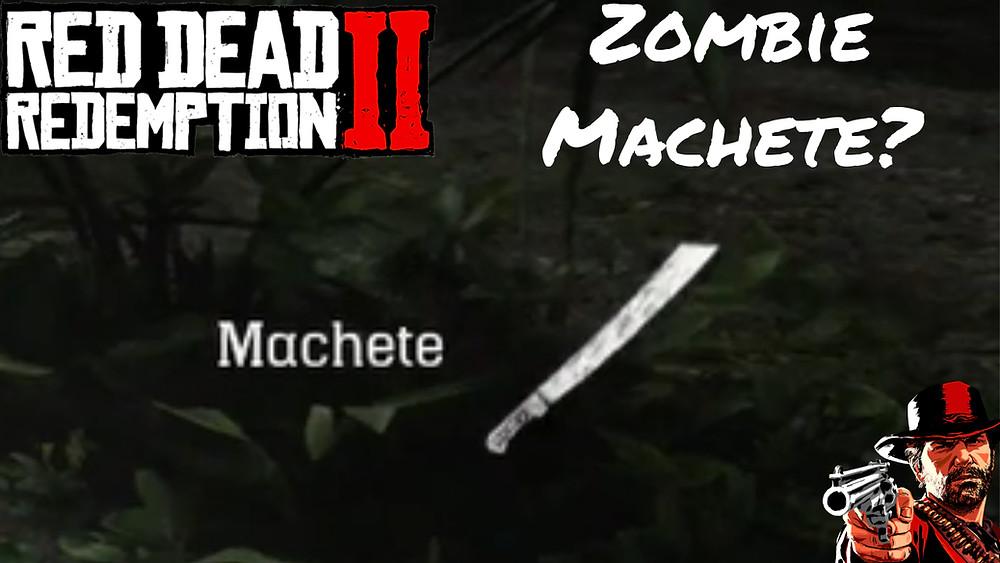 red dead redemption 2 zombie machete