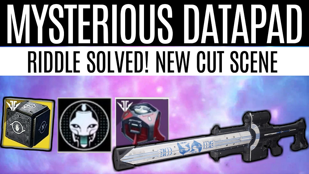 DESTINY 2 - Mysterious Datapad Solved, Niobe Labs Puzzle and New Cut Scene!