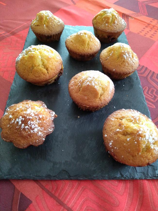 Muffins aux pépites de chocolat et caramel