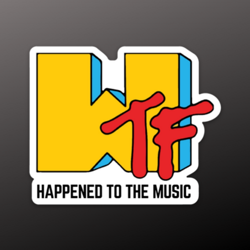 WTF HAPPEND TO THE MUSIC Sticker