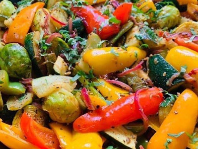PEPPER VEGETABLE STIR FRY (Vegan)