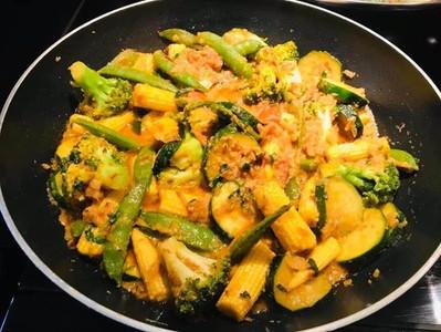 CREAMY MIXED VEGETABLE STIR FRY (Vegan)