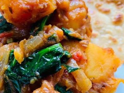 SAAG ALOO (Vegan Spinach & Potato Curry)