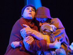 Perce McNish Mrs Chippy hug