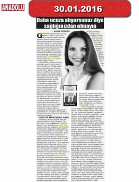 30 January 2016 - Anadolu
