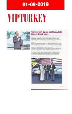 1 Eylül 2019 - VIP Turkey Dergisi