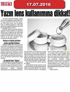 17 July 2016 - Hilal gazetesi