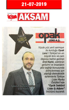 21 July 2019 - Akşam Newspaper
