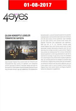 2017 August - 4 Your Eyes Dergisi