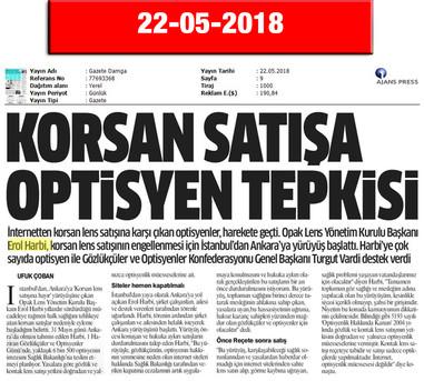 22 May 2018, Gazete Damga (Inner Page)