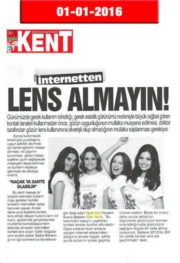 1 Ocak 2016 - Kent Gazetesi
