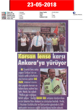 23 May 2018, Yenigün