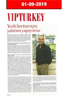 1 Ekim 2019 - VIP Turkey Dergisi