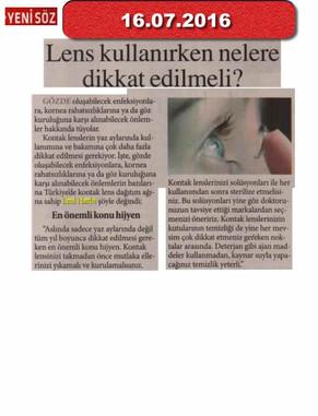 16 Temmuz 2016 - Yeni Söz Gazetesi