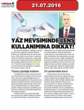 21 July 2016 - Milliyet Akdeniz
