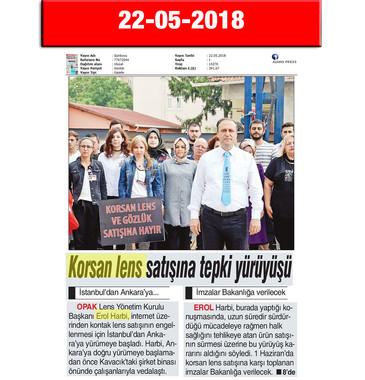 22 May 2018, Gün Boyu (Cover)