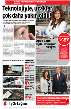 1 Eylül 2016 - Vodafone Opak Lens Reklamı
