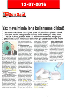 13 July 2016 - Son Saat Gazetesi
