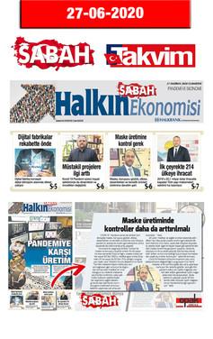 27 June 2020 - Sabah Newspaper & Takvim Newspaper