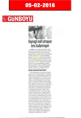 5 February 2016 - Günboyu Gazetesi
