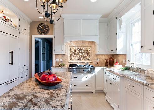 White Kitchen, Island and Rangetop