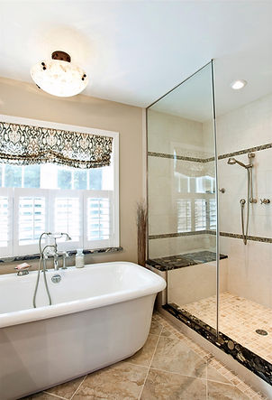 Soaking Tub and Separate Shower with Bench Seat