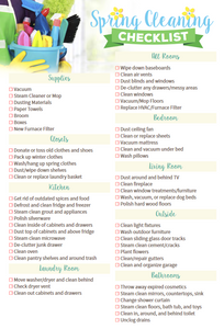 Spring cleaning checklist sylvane.com
