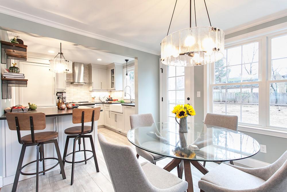 Light, bright kitchen designed by Kitchen & Bath Design + Construction.