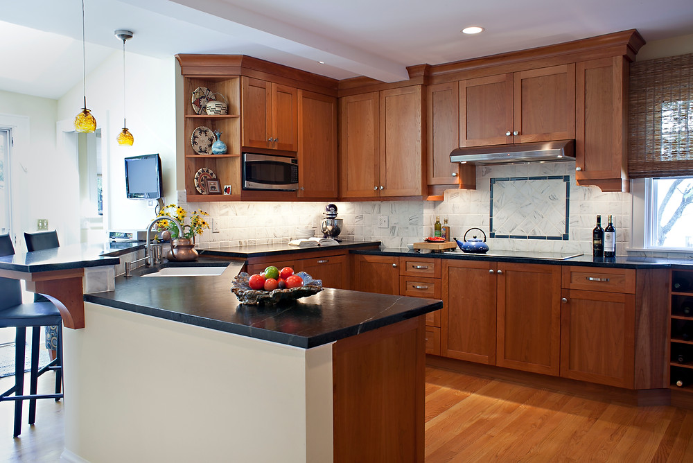 Timeless kitchen design wood cabinetry peninsula traditional