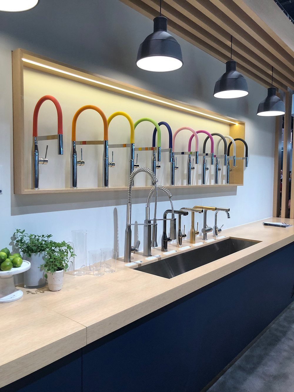 Colorful faucets various finishes KBIS 2019