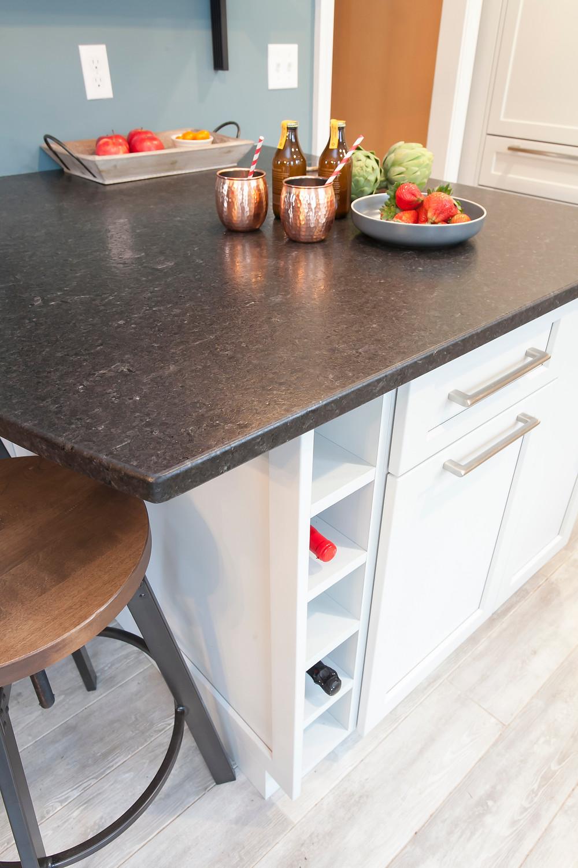 Brushed granite countertops