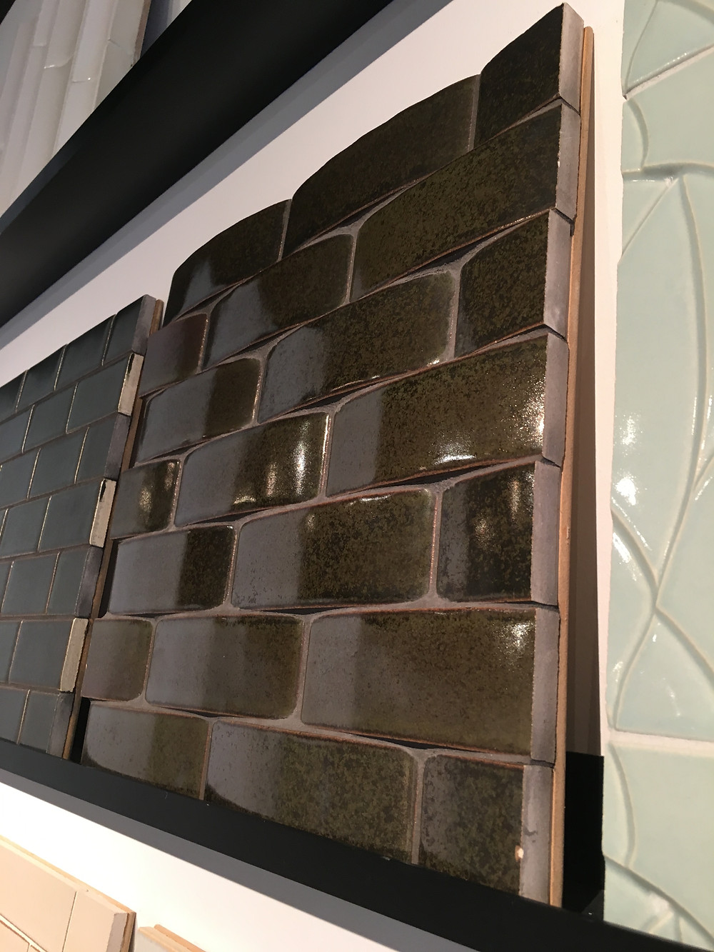 Many of the new tiles feature textural elements for interest.
