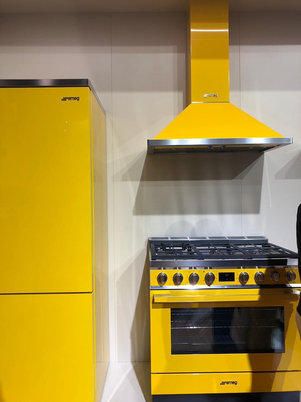 Smeg yellow appliances