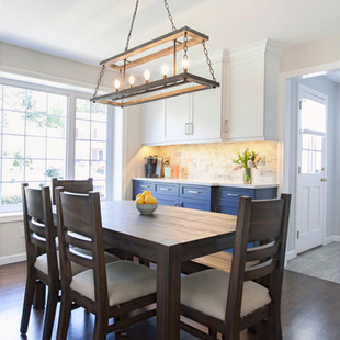 Dining Room as Part of Classic Blue & White Kitchen