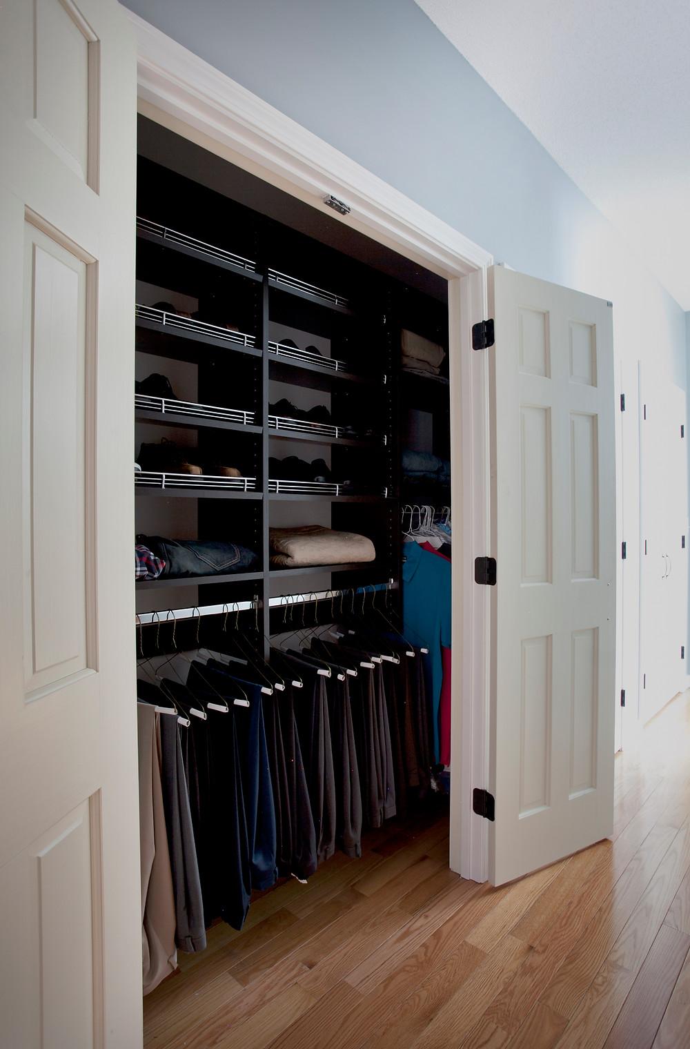 Custom designed closet system Plus Closets